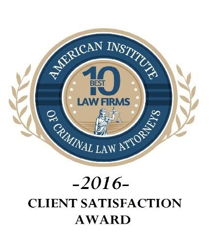 Logo for American Institute of Criminal Law Attorneys Best 10 2016