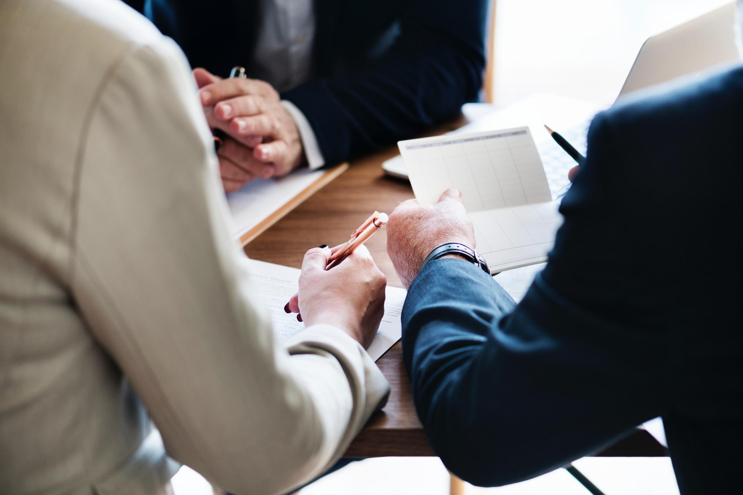Couple divorce paperwork