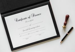 Picture of divorce certificate