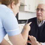 care worker mistreating elderly