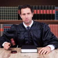 judge in courtroom